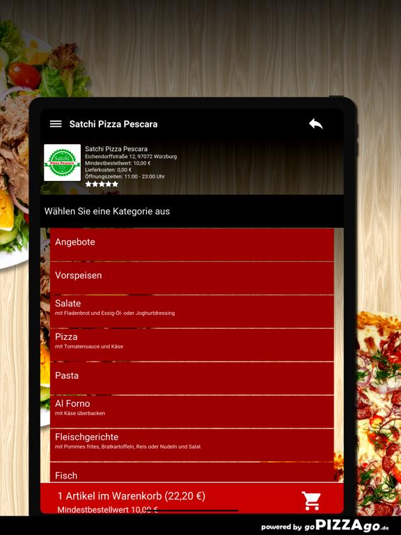 Satchi Pizza Pescara Würzburg screenshot 8