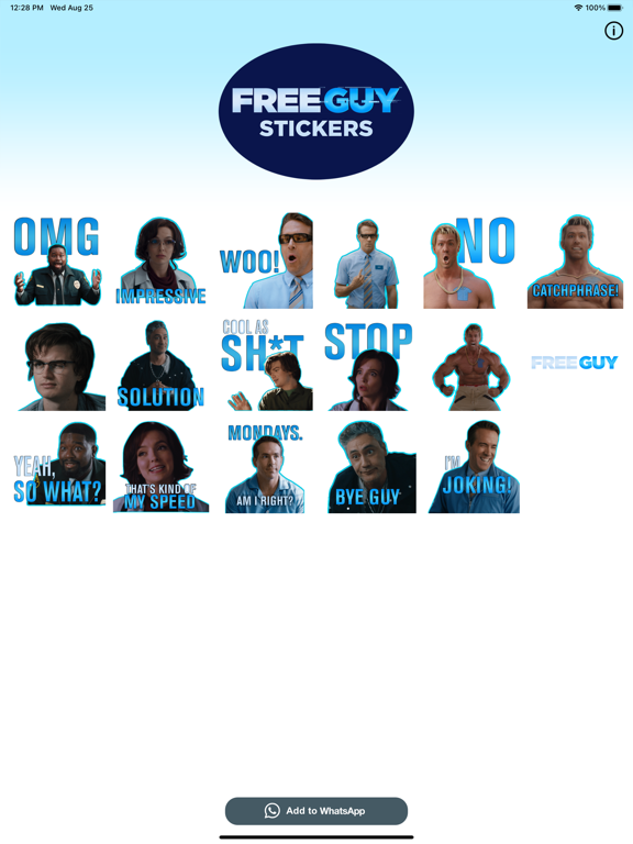 Free Guy Stickers screenshot 5