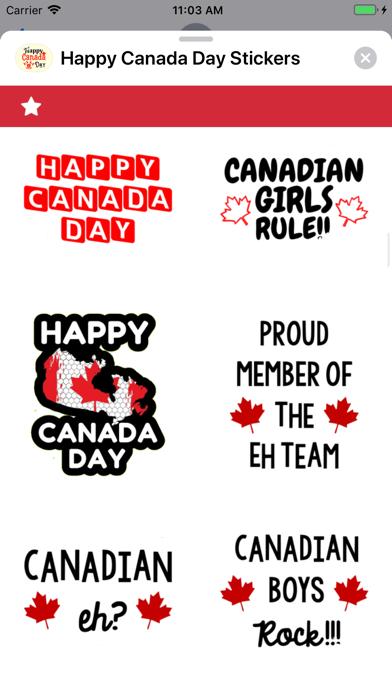 Happy Canada Day Stickers ! screenshot 3
