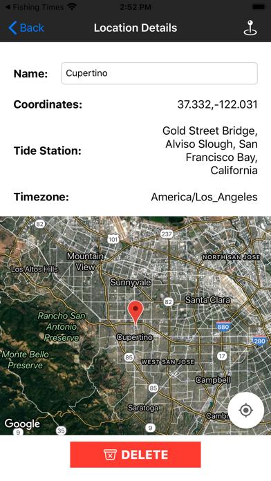 Fishing Times Calendar Screenshot