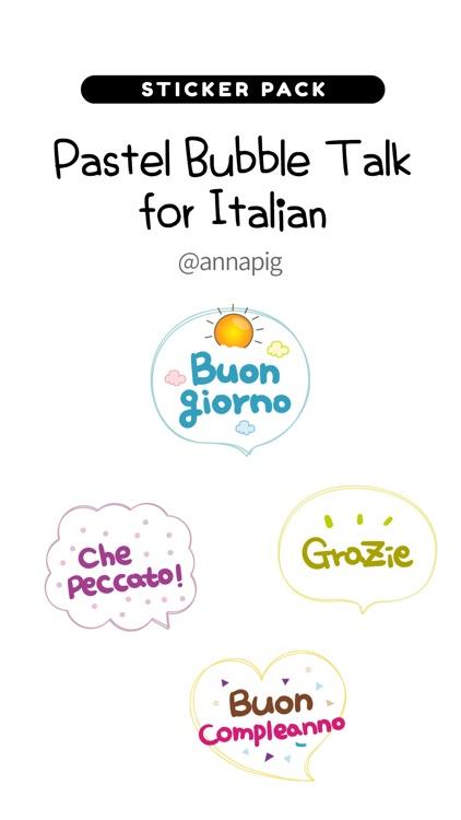 Pastel Bubble Talk for Italian