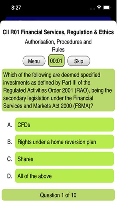 R01 Fin Services Regs & Ethics screenshot 3