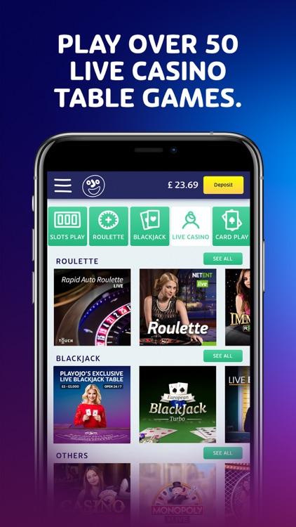 Play Casino Games at PlayOJO screenshot-3