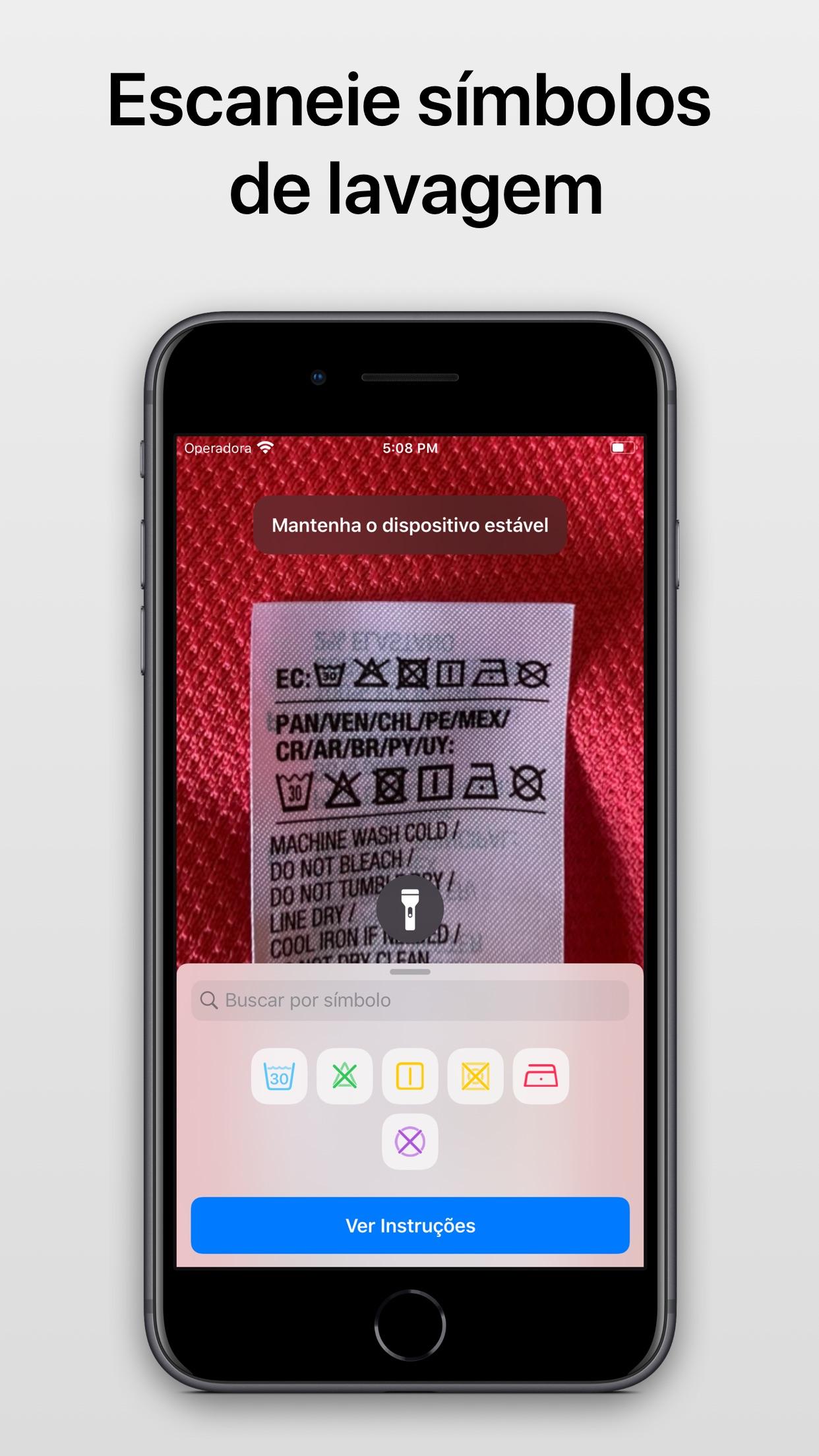 Screenshot do app Laundry Lens