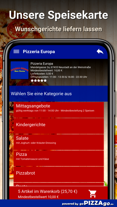 Pizzeria Europa Neustadt screenshot 4