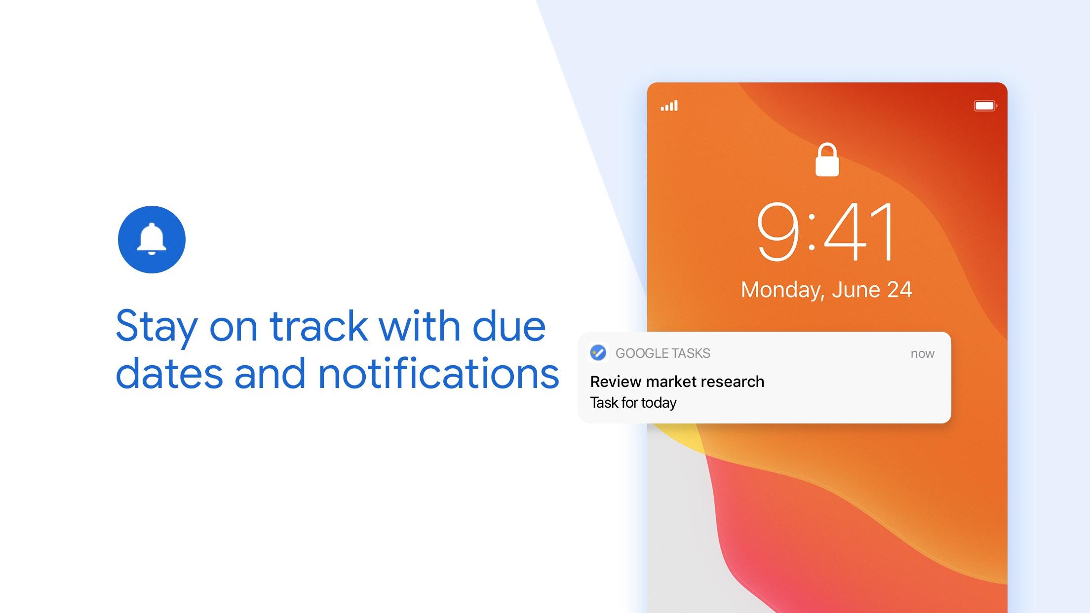 Screenshot do app Google Tarefas: seja produtivo