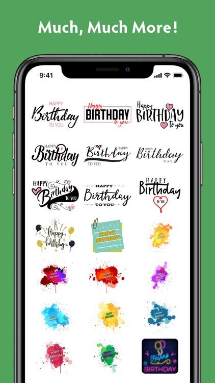 Birthday Stickers #1 screenshot-9
