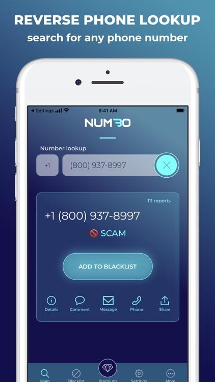 Numbo: Blacklist & Spam Block