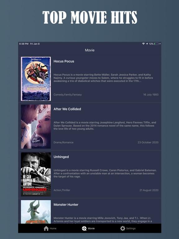 Ipad Screen Shot Tuner Radio Movies Player 0