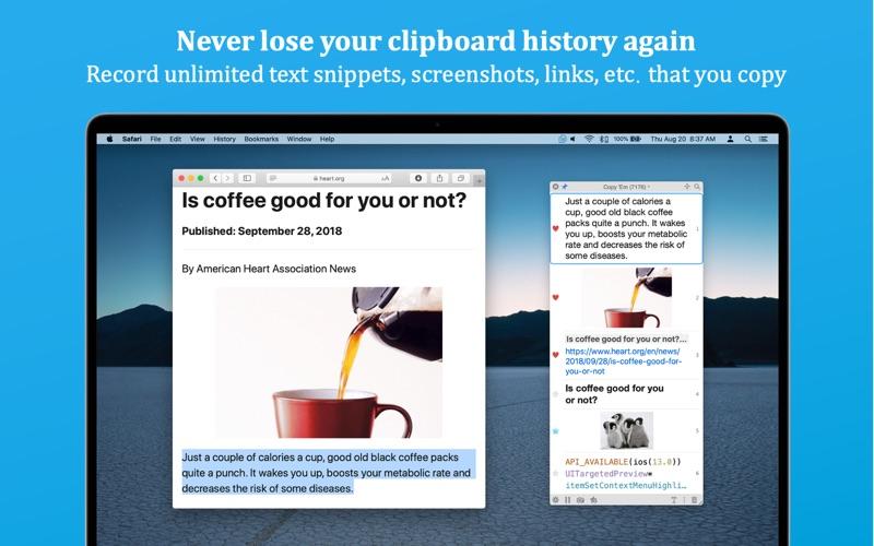 Copy 'Em (Clipboard Manager)