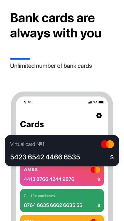 Cardium - virtual wallet