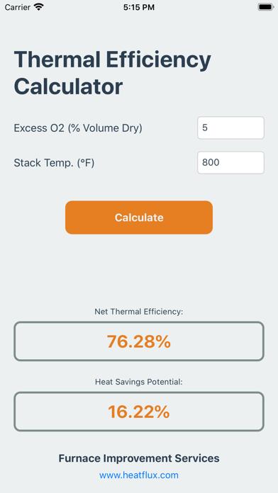 Thermal Efficiency Calculator screenshot one