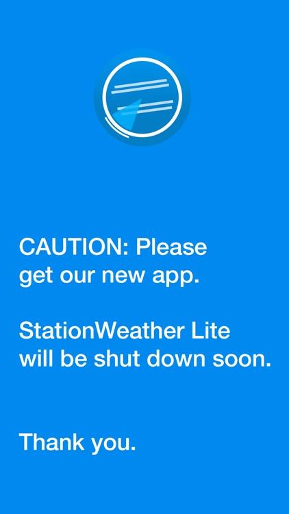 StationWeather Lite screenshot-0