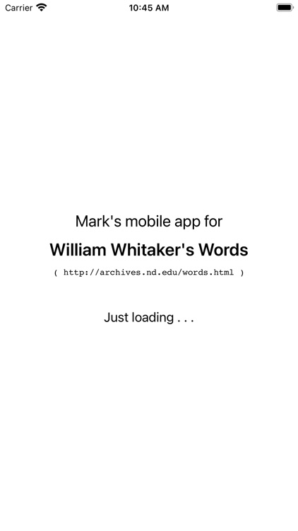 Whitakers Words Reader