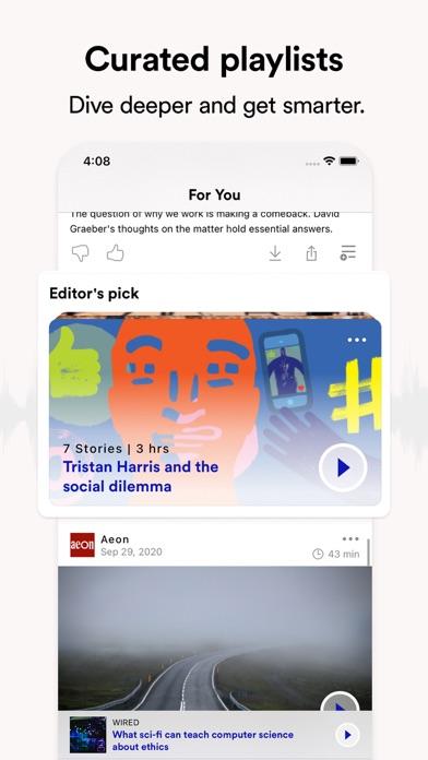 Curio: hear great journalism Screenshot