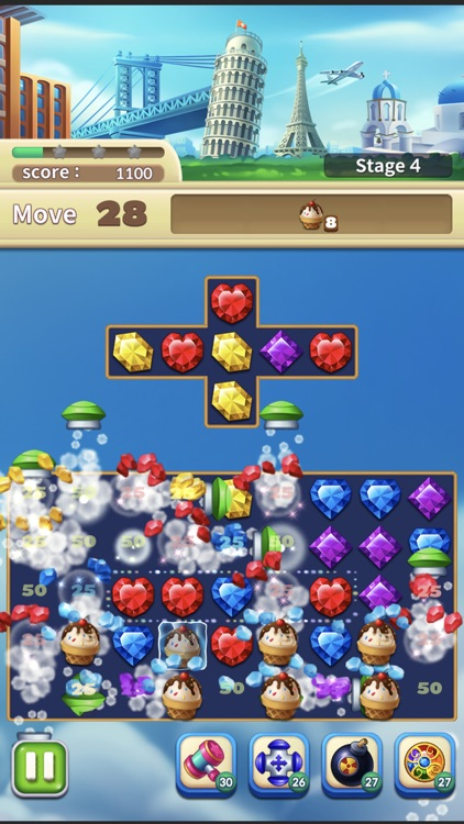Jewels World Match 3 Puzzle screenshot-7
