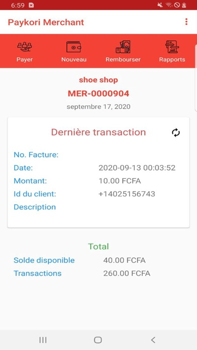 Paykori Merchant Screenshot