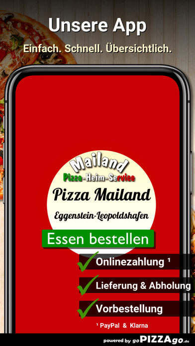 Pizza Mailand Eggenstein-Leopo screenshot 2