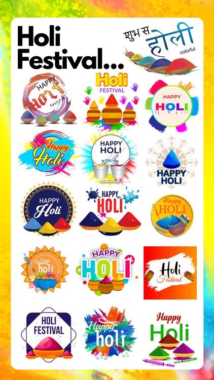 Happy Holi Stickers !