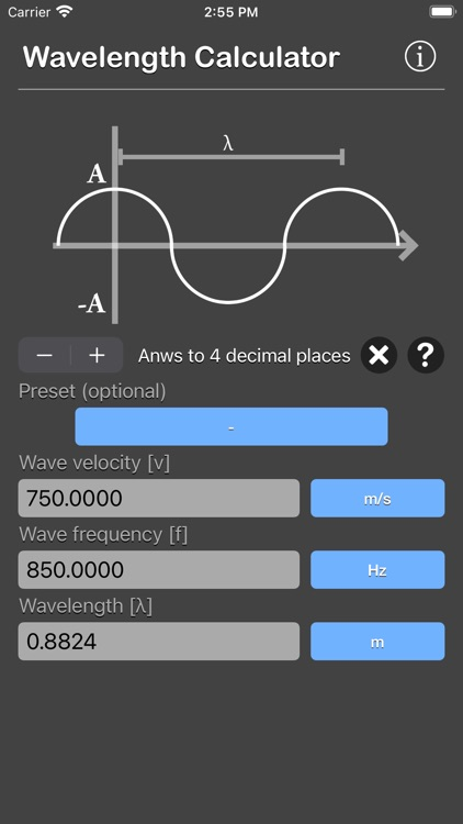 Wavelength Calculator screenshot-4