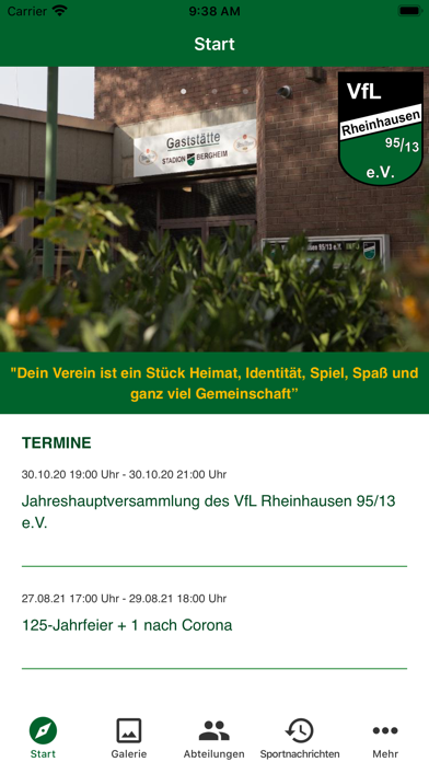 VfL Rheinhausen 95/13 e.V.Screenshot von 2