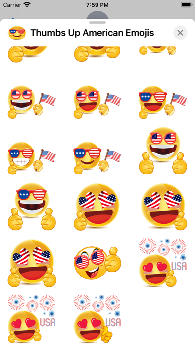 Thumbs Up American Emojis screenshot 5