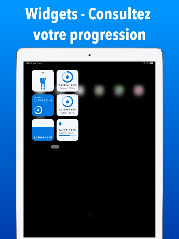 WaterMinder iPad captures décran