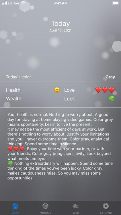 Color Horoscope screenshot-4