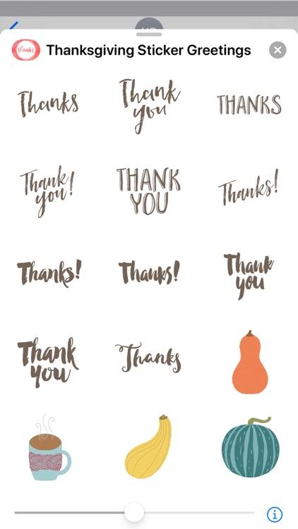 Thanksgiving Sticker Greetings screenshot-4