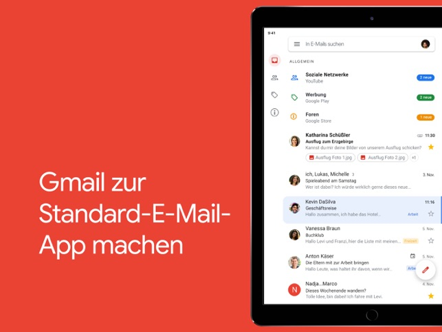 ‎Gmail – E-Mail von Google Screenshot