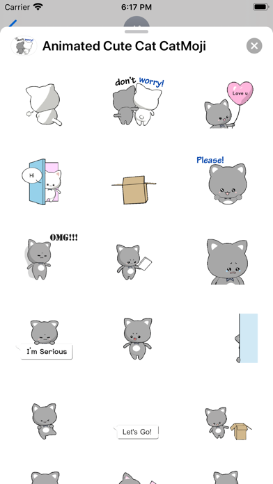 Animated Cute Cat CatMoji screenshot 2