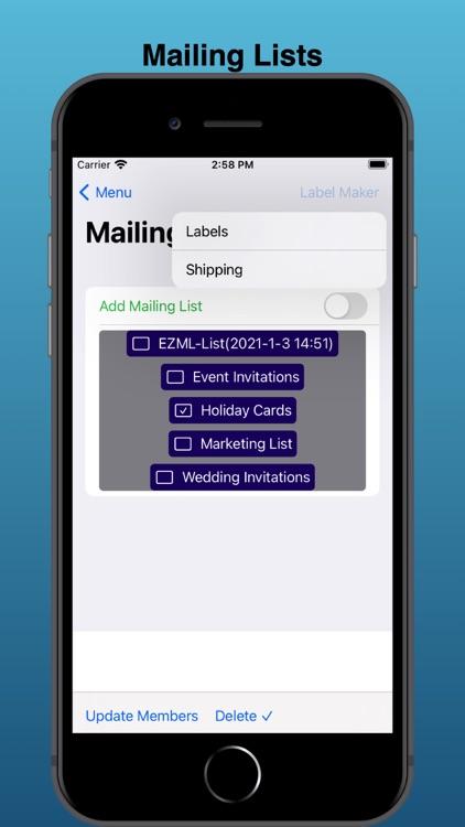 EZ Mailing Labels II screenshot-4