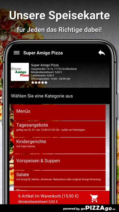 Super Amigo Pizza Großbottwar screenshot 4
