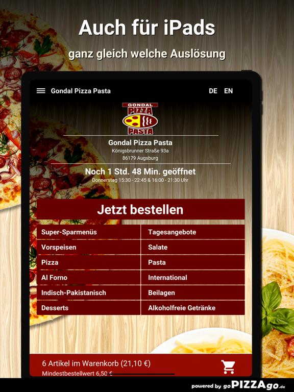 Gondal Pizza Pasta Augsburg screenshot 7