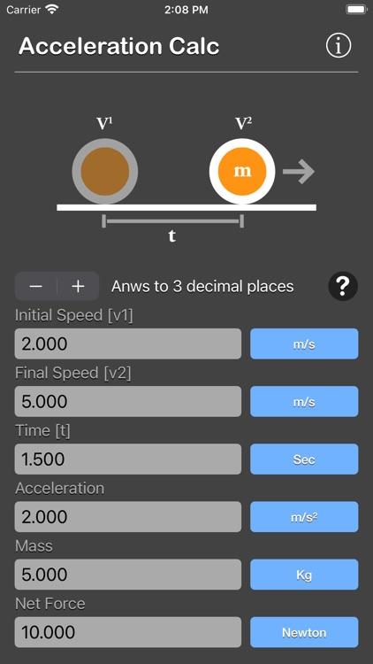 Acceleration Calculator Plus