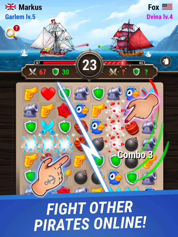 Pirates & Puzzles - PVP League screenshot 6