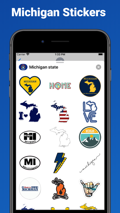 Michigan state - USA stickers screenshot 1