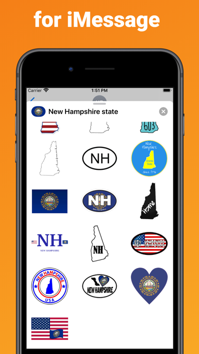 New Hampshire - USA stickers screenshot 3