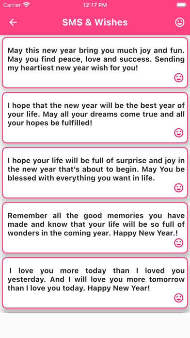 Happy New Year Photo Greetings Screenshot