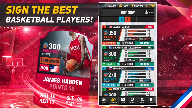 Basketball Fantasy Manager New