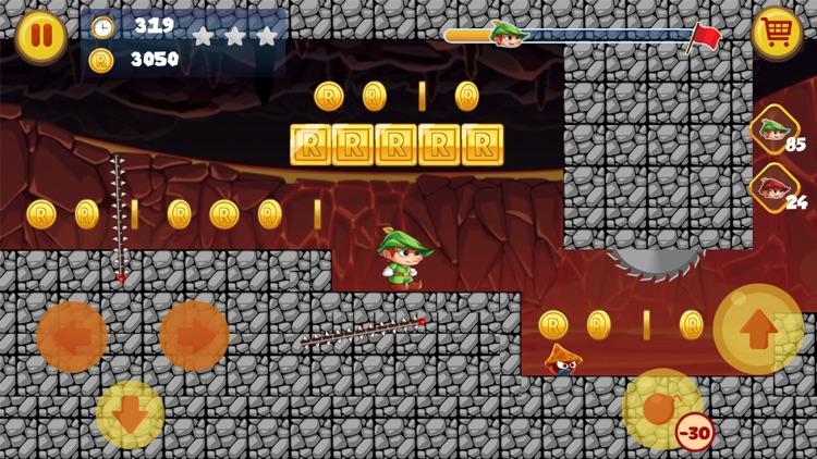 罗宾汉的森林世界-最佳经典平台游戏 screenshot-5