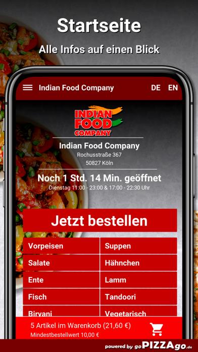 Indian Food Company Köln screenshot 2
