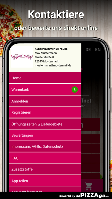 Panters Pizza Hemmingen screenshot 3
