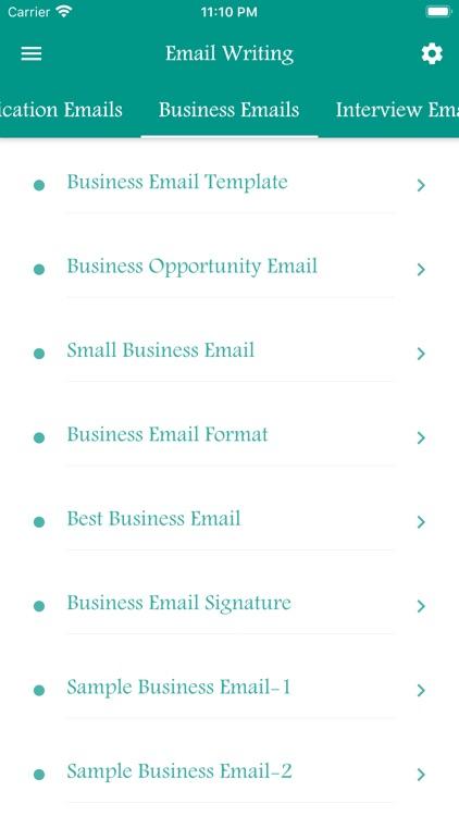 Email Writing Templates screenshot-4