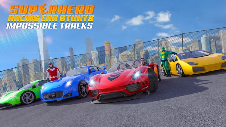 Superhero Racing Car Stunts screenshot-4