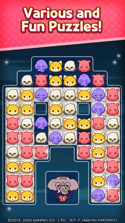 Aggretsuko :Sanrio Puzzle Game screenshot-2