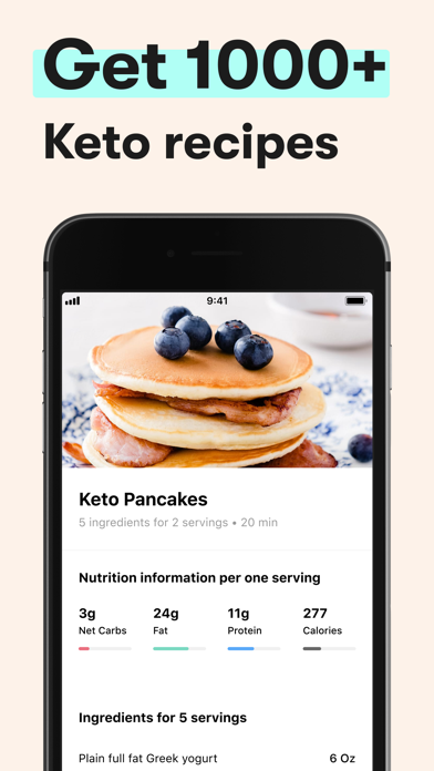 Keto Diet App - Carb Tracker Screenshot