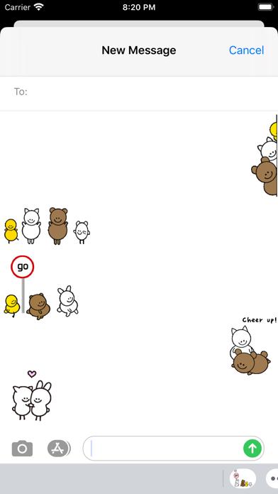 Bunny & Funny Friends Sticker screenshot 1