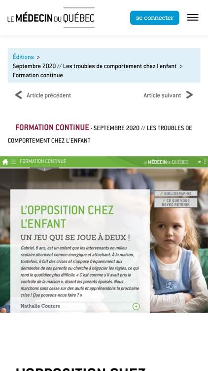 Le Médecin du Québec screenshot-3