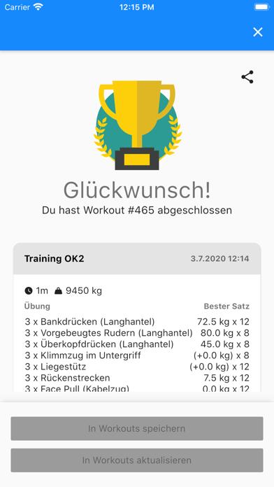 GymTime Workout TrackerScreenshot von 1